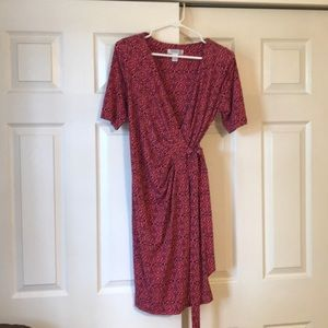Motherhood maternity size M pink wrap dress